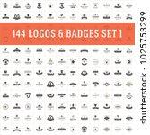 vintage logos design templates... | Shutterstock .eps vector #1025753299