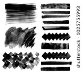 watercolor stains black on... | Shutterstock . vector #1025755993