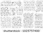 vector  isolated animal... | Shutterstock .eps vector #1025757400