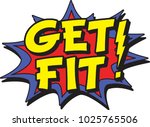 get fit sign | Shutterstock .eps vector #1025765506
