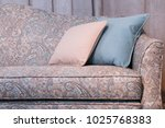 light pearl cushioned furniture ... | Shutterstock . vector #1025768383