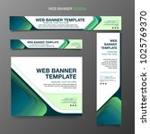 vector web banners templates | Shutterstock .eps vector #1025769370