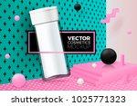 vector 3d realistic corner wall ...   Shutterstock .eps vector #1025771323