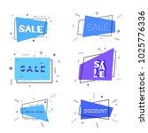 set of sale lettering on ... | Shutterstock .eps vector #1025776336