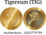 set of physical golden coin...   Shutterstock .eps vector #1025779759