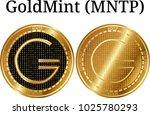 set of physical golden coin...   Shutterstock .eps vector #1025780293