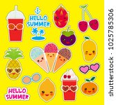 hello summer bright tropical... | Shutterstock .eps vector #1025785306