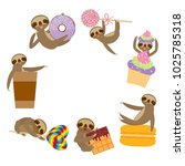 card banner funny and cute... | Shutterstock .eps vector #1025785318
