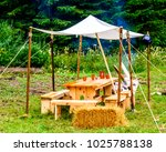 old picnic place at a forest   Shutterstock . vector #1025788138