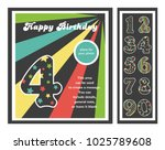 birthday party invitation card  ... | Shutterstock .eps vector #1025789608