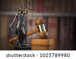 law and justice concept. old... | Shutterstock . vector #1025789980