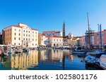 the slovenian resort city of... | Shutterstock . vector #1025801176