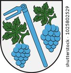 coat of arms of gundersheim in... | Shutterstock .eps vector #1025802529