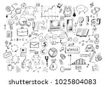 business doodles hand drawn... | Shutterstock .eps vector #1025804083