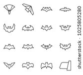 flat vector icon set  ... | Shutterstock .eps vector #1025805280