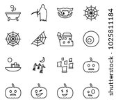flat vector icon set   witch... | Shutterstock .eps vector #1025811184