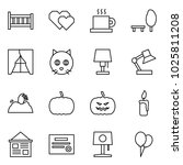 flat vector icon set   crib... | Shutterstock .eps vector #1025811208
