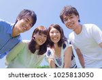young japanese people who smile ... | Shutterstock . vector #1025813050