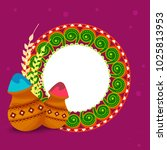 indian holi traditional...   Shutterstock .eps vector #1025813953