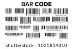 Stock vector bar code set vector universal product scan code upc bar code scan symbol isolated illustration 1025814310