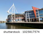 cardiff  uk  may 24  2016  the... | Shutterstock . vector #1025817574