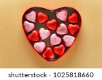heart box with sweets | Shutterstock . vector #1025818660