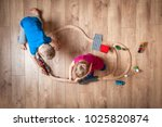 Children Play With Wooden Toy ...