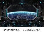 spaceship grunge interior with... | Shutterstock . vector #1025822764