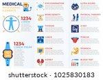 medical infographic elements... | Shutterstock .eps vector #1025830183