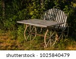 old seat and table garnish in... | Shutterstock . vector #1025840479
