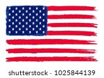 grunge flag of usa.vector... | Shutterstock .eps vector #1025844139