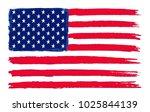 grunge flag of usa.vector... | Shutterstock .eps vector #1025844139