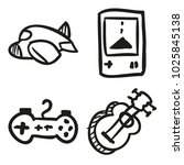 icons hand drawn toys. vector... | Shutterstock .eps vector #1025845138