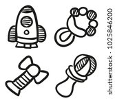 icons hand drawn toys. vector... | Shutterstock .eps vector #1025846200