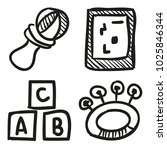 icons hand drawn toys. vector... | Shutterstock .eps vector #1025846344
