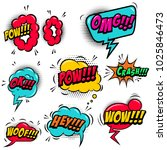 set of comic style speech... | Shutterstock .eps vector #1025846473