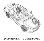 concept car. vector rendering... | Shutterstock .eps vector #1025850988