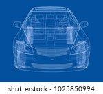 concept car. vector rendering... | Shutterstock .eps vector #1025850994