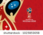 russian red background  world... | Shutterstock .eps vector #1025853058