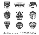 traveling  outdoor badge... | Shutterstock . vector #1025853436