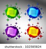 creative stickers. vector | Shutterstock .eps vector #102585824