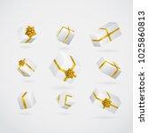 gift 3d background. festive box ... | Shutterstock .eps vector #1025860813