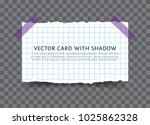 torn piece of squared paper... | Shutterstock .eps vector #1025862328