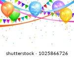 happy birthday design. border...   Shutterstock . vector #1025866726