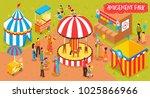isometric amusement park circus ...   Shutterstock .eps vector #1025866966