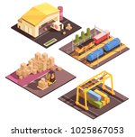 isometric logistic design... | Shutterstock .eps vector #1025867053
