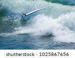 Surfer In Large Wave Wipes Out...
