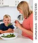 young attractive mother... | Shutterstock . vector #1025872330