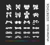 design elements ribbons bows...   Shutterstock .eps vector #1025872426