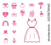 wedding outline married... | Shutterstock .eps vector #1025878960